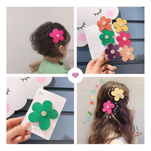 Hair-Clip Barrettes Flower-Hairpin Candy-Color Girls Women Cute Headwear