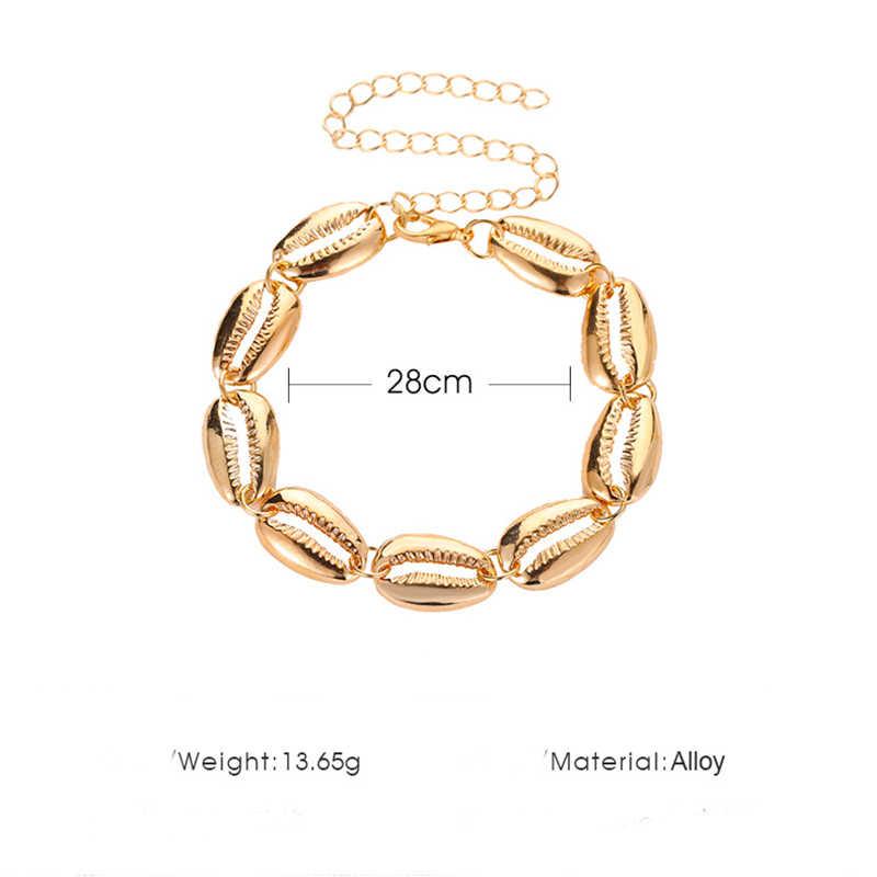 2019 czeski lato plaża stóp biżuteria moda dla kobiet łańcuszek na kostkę Sea Shell Charm bransoletka bransoletki i łańcuszki na rękę nogi łańcuszek na kostkę X150
