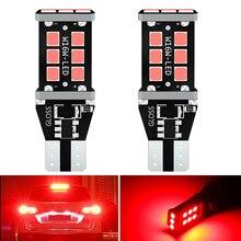 2x t15 w16w led super brilhante 21smd 2835 921 912 led canbus nenhum erro carro backup parar reserva luzes lâmpada de freio vermelho branco