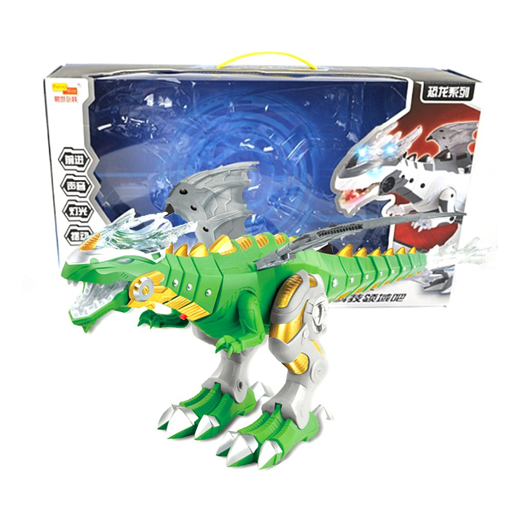 2019 NEW Spray Mechanical Dinosaurs With Wing Cartoon Electronic Walk Animal Model Dinosaurio Juguete Robot Pterosaurs Kids Toys