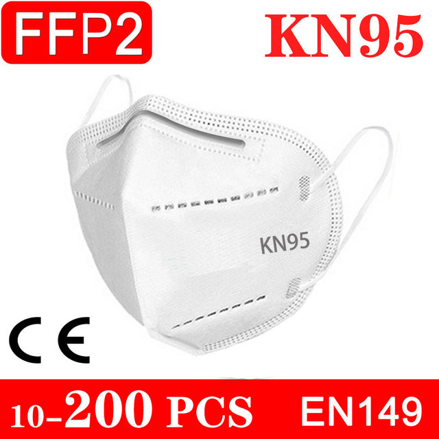 10-200 piece KN95 face mask FFP2 facial masks filter mask Protective maske anti dust mask mouth mask mascarillas tapabocas