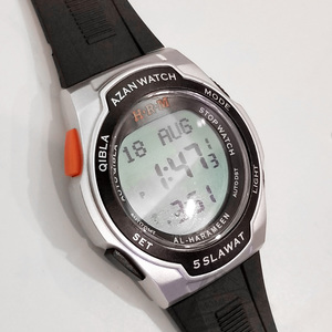 Image 3 - Muslim Sport Wristwatch with Qiblah Alfajr Time Azan Alarm Watch Waterproof
