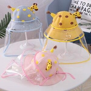 Шляпа в рыбацком стиле для маленьких мальчиков; Солнцезащитная шляпа для маленьких девочек с изображением жирафа; Детская Защитная шапочка...