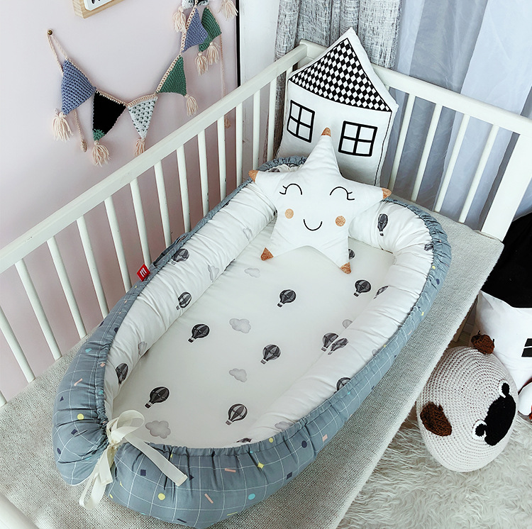 90*55cm Baby Nest Crib Travel Bed Cot For Infant Newborn Cotton Cradle Baby Nest Bed