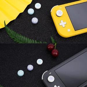 Image 3 - Dễ Thương Bông Tuyết Bé Gái Hoa Tuyết Ngón Tay Cái Gậy Cầm Nắp Joystick Dành Cho Nintend Switch NS Lite NS JoyCon Bộ Điều Khiển Chơi Game ốp Lưng