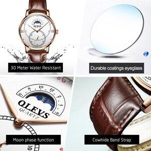 Image 5 - Montre à Quartz pour hommes, montre à Quartz étanche, montre de marque de luxe, sur pied, avec fonction Phase de lune, cadeaux pour hommes