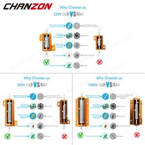 2 предмета 25W 50W 100W Алюминий высокое Мощность металлический чехол с проволочной обмоткой резистор постоянного сопротивления с карбоновой пленкой 0,01-10 к ом эквивалент нагрузки проволочный сопротивления 1K