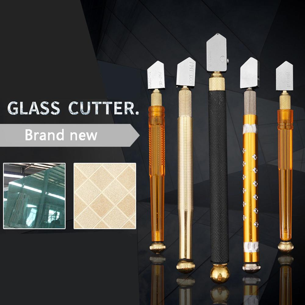 Roller Glass Cutter Metal Handle Straight Head Oil Cutter Multi-function Tile Cutter Straight Glass Cutting Manual Push Knife