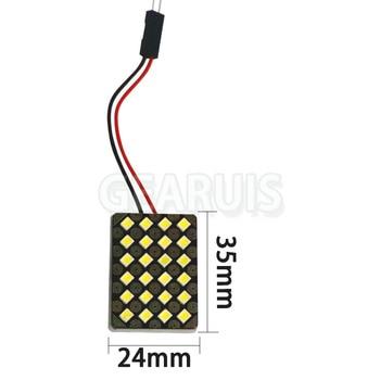 100set Car Vehicle Interior lights Dome Panel LED Lamp 12 24 SMD 2835 0.5W LED 0.12A 0.24A Reading Lamp Map Roof Lights Bulb 12V - 24 smd white 12V
