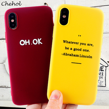 Funny Letter Cell Phone Cases for iPhone 11 8 7 6s Plus Pro X XS MAX XR Soft Silicone TPU Protected Case Back Cover Accessories