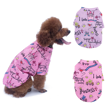 Dog Clothes Soft Thicken Warm Cotton Pet Sweater Print Puppy Cat Pullover Pet Clothes for Small Large Dogs Keep Warm Clothing