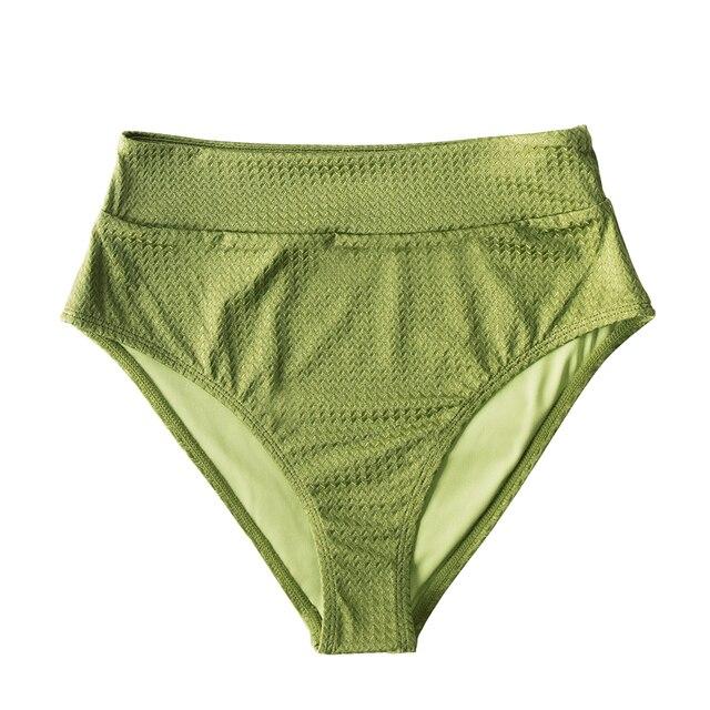 Green Textured High Waisted Bottoms