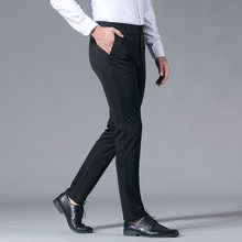 2019 Summer New Style Men Business Casual Straight-Cut Loose-Fit High-waisted Formal Wear Suit Pants No Ironing Slim Fit Trouser(China)