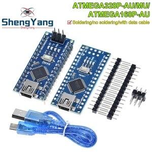 Nano With the bootloader compatible Nano 3.0 controller for arduino CH340 USB driver 16Mhz Nano v3.0 ATMEGA328P/ATMEGA168PA-AU(China)