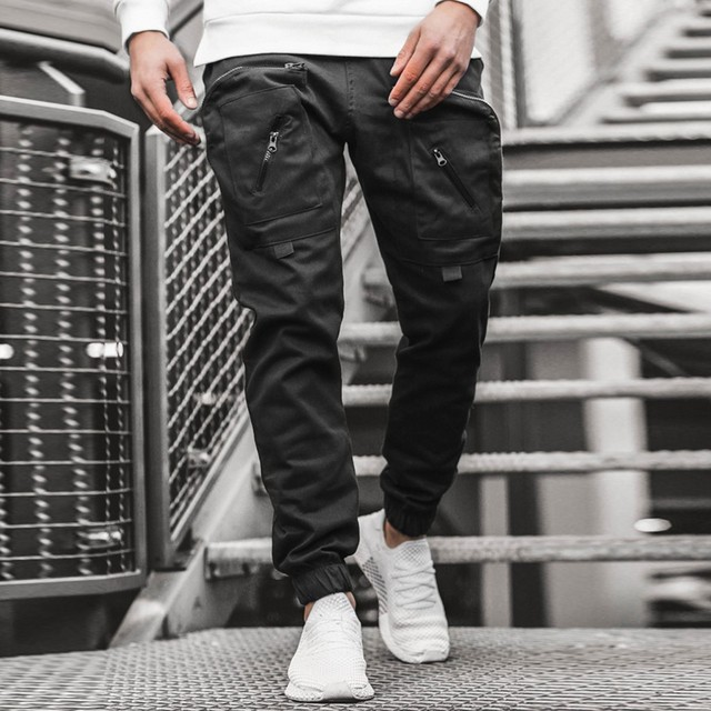 Streetwear Hip hop Joggers Pants Men Loose Harem Pants Ankle Length Trousers Sport Casual Sweatpants White Techwear  1.13 6
