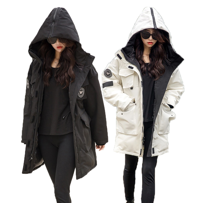 Women's Duck Down Jacket Winter Coat Women Hooded Long Parka Korean Thick Overcoat Down Jackets For Women KJ2698