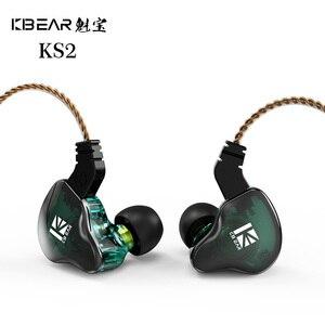 KBEAR KS2 1BA + 1DD наушники-вкладыши HIFI DJ монитор наушники для бега Спортивная гарнитура с разъемом 2Pin 0,78 мм KBEAR Diamond TRI I3
