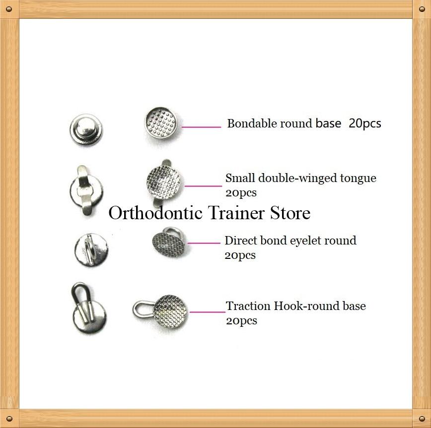 Dental Orthodontic Lingual Buttons Bondable Round Base 80pcs