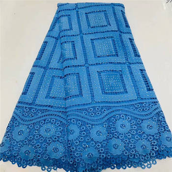 Sky blue lace fabric 2020 african lace fabric with stones 5yards african fabric african lace fabric 2020 high quality lace S333
