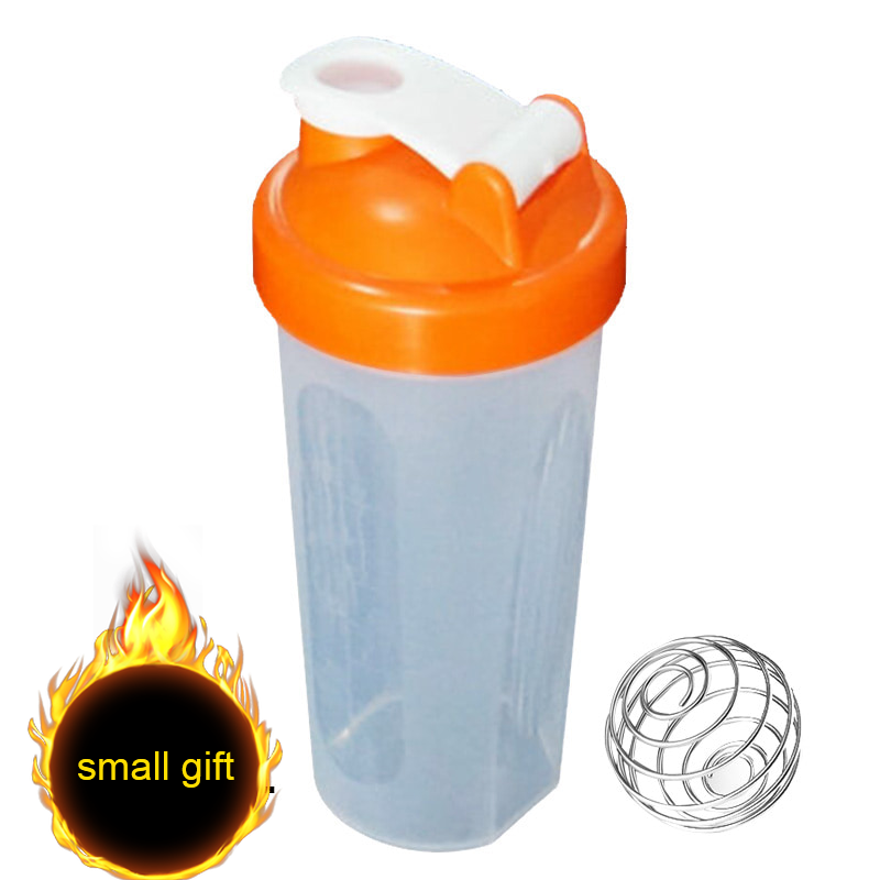 400/600ml Protein Powder Mixing Cup Sealed Leakproof Shake Bottle With Stirring Ball THJ99(small Gift)