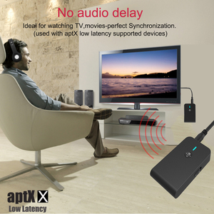 Image 3 - aptX Low latency 5.0 Bluetooth Transmitter Receiver 2 In 1 Audio Wireless Adapter For Car TV PC Speaker Headphone 3.5MM Aux Jack