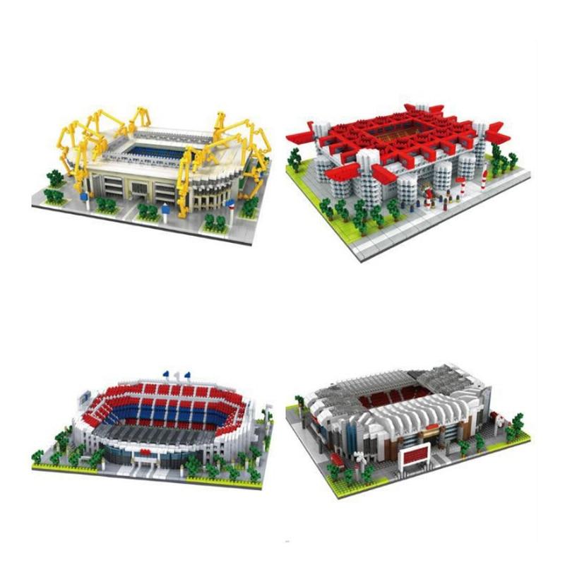 Building Blocks Assemble Architecture San Siro Football Field Signal Iduna Park Stadium Educational Bricks Gifts For Lego