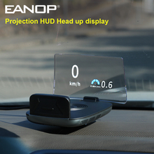 "EANOP M70 2020 מראה HUD תצוגת Headup OBD2 מהירות מקרן בזמן אמת צג מהירות סל""ד שעות נוספות נהיגה מעורר"
