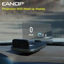 Eanop m70 2020 espelho hud headup display obd2 velocidade do projetor em tempo real monitor de velocidade rpm horas extras condução alarme