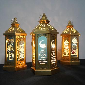 Huiran Eid nocna dekoracja świetlna Ramadan Kareem wystrój Ramadan Mubarak muzułmański islamski szczęśliwy pomoc prezenty Ramadan i Eid wystrój domu tanie i dobre opinie