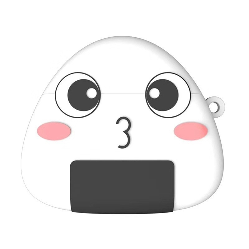3D Silicone Ear Sleeve for Airpods Cartoon Rice Ball Protective Shell for Apple Wireless Bluetooth Headphone Protection Cover