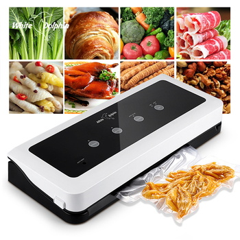 White Dolphin Food Vacuum Sealer Packaging Machine For Kitchen 220V 110V Including 10pcs Saver Bags Sealing - discount item  46% OFF Kitchen Appliances