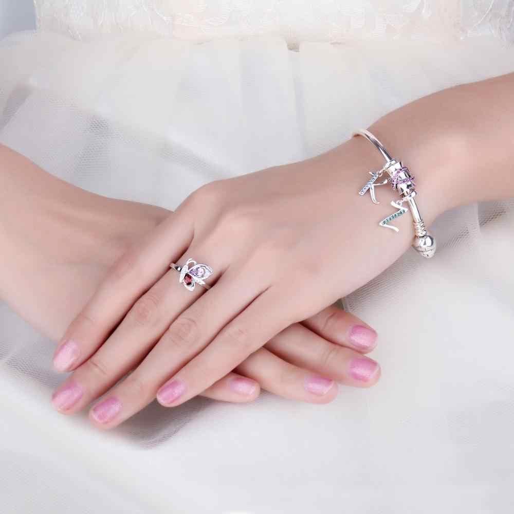 Jewelrypalace inicial 925 grânulos de prata esterlina encantos para pulseira de prata 925 grânulos originais jóias fazendo pingente colar