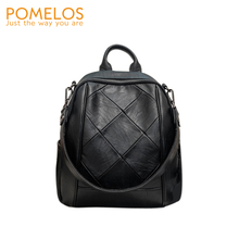 POMELOS Korean fashion backpack women new small travel split leather backpacks for school teenagers girls backpack purse