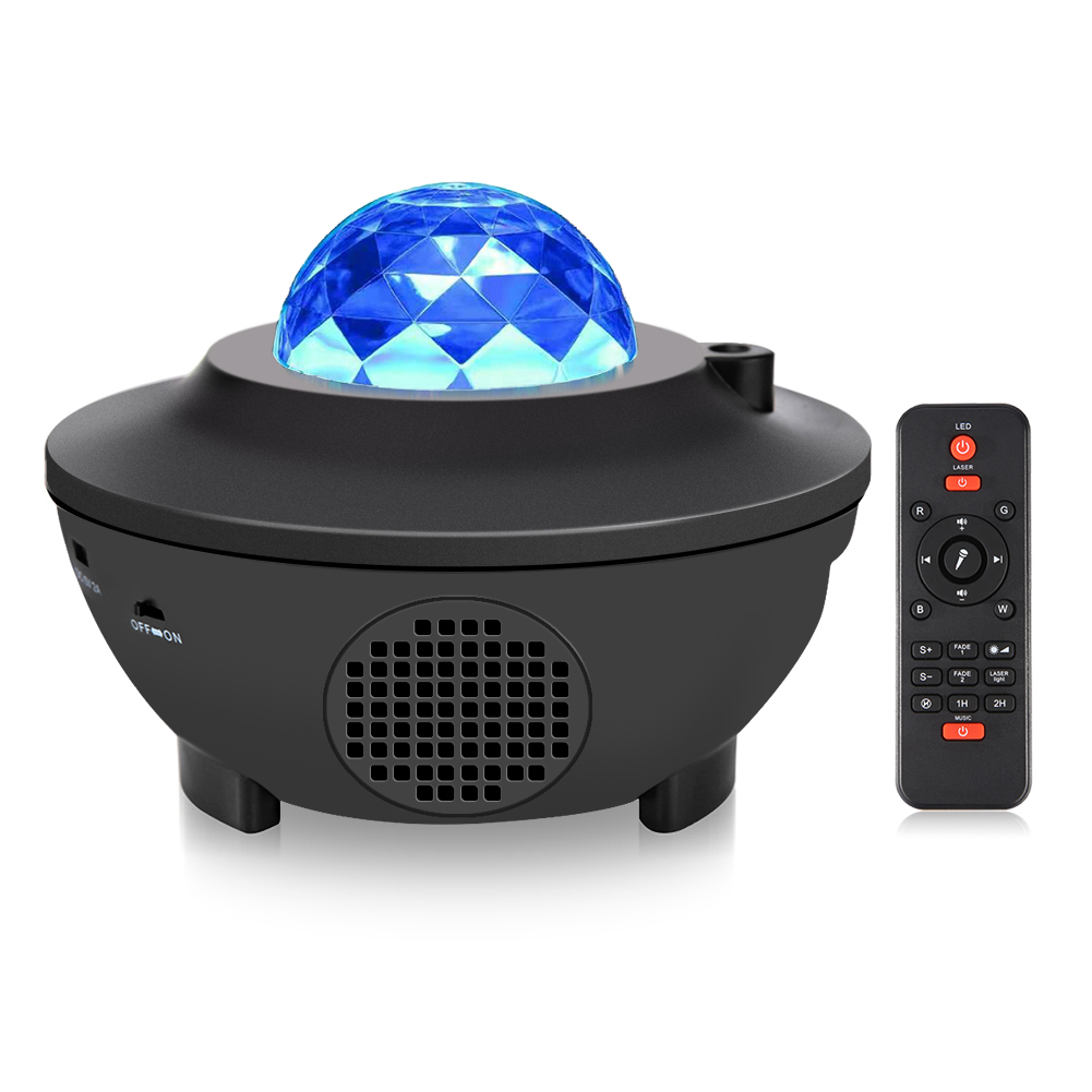 Colorful Projector Starry Sky Night Light LED Laser Projector Light Bluetooth Music Player Remote Control Disco Lamp