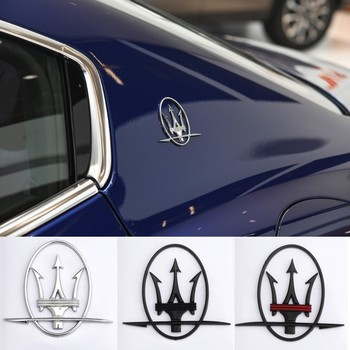 Car Sticker Styling Decals Fender Side Rear Window Emblem Badge for Maserati Logo Levante Quattroporte Ghibli Gran Turismo GC GT image