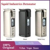 Original Tintenfisch Branchen Detonator TC Mod Fit 21700/20700 Batterie Max 120W Ausgang E-zigarette Mod VS Drag 2/doppel Barrel V3