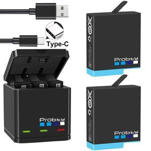 Image 3 - Orijinal probty GoPro Hero 8 hero 7 hero 6 siyah piller veya üçlü şarj GoPro Hero8Black pil aksesuarları
