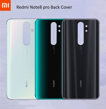 Hot Xiaomi redmi note8 pro Battery Back Cover Case original 3D Glass real back door replacement shell for redmi note 8 pro &logo