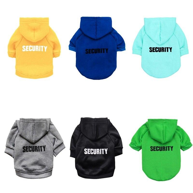 Security Dog Cat Clothes Pet Cat Coats Jacket Hoodies For Cats Dog Outfit Warm Pet Clothing Rabbit Animals Pet Sweatshirt 1