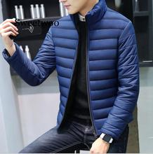 New Men Winter Warm Out Wear Large size men's long sleeve stand collar cotton business casual zipper jacket