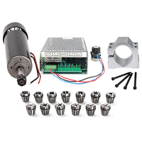 ABSF 500W Cnc Spindle Air Cooled Spindle Motor 500W 100V Power Supply / 1Set Er11 Collet Spindle 500W for Engraving