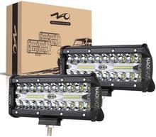 NAOEVO 7 Inch LED Bar Off Road Laufen Licht 240W 12V 24V 4x4 Arbeit Fahren nebel Lampe Combo Strahl für Niva Lkw ATV Zubehör