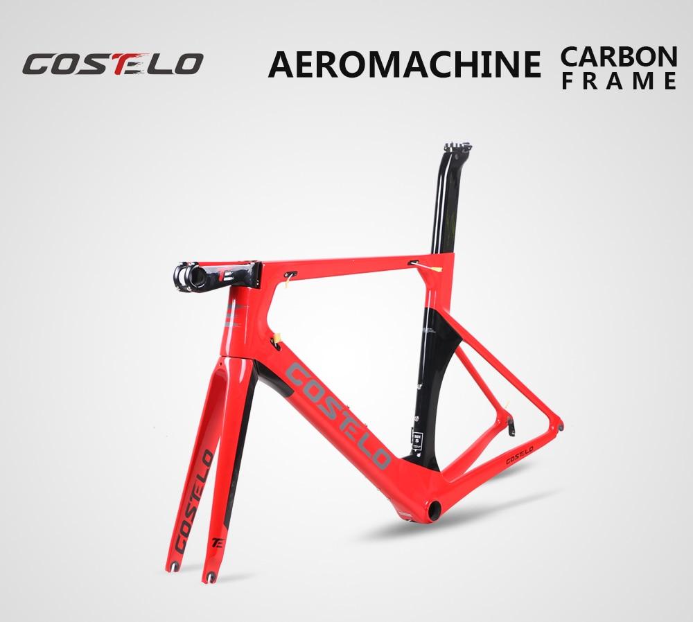 Costelo AEROMACHINE Monocoque disque carbone route vélo cadre Costelo vélo bicicleta cadre en fibre de carbone vélo cadre 50 52 54 56