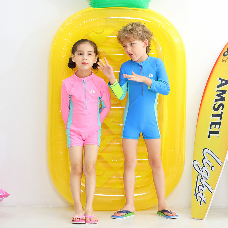 KID'S Swimwear Girls Jellyfish Clothing Snorkeling Tour Bathing Suit BOY'S Long Sleeve Boxer Big Kid Swimwear With Swim Cap Tour
