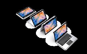 """Image 4 - 2 в 1 с откидным верхом 11,6 """"лаптоп планшет ультратонкий ноутбук с сенсорным экраном Тетрадь 1080 ips Windows 10 4 Гб Оперативная память 64 Гб Встроенная память 128GB карта Micro SD"""