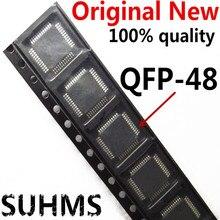 (10 peça) 100% Novo DP83848 DP83848CVVX DP83848CVV DP83848VV QFP48 Chipset