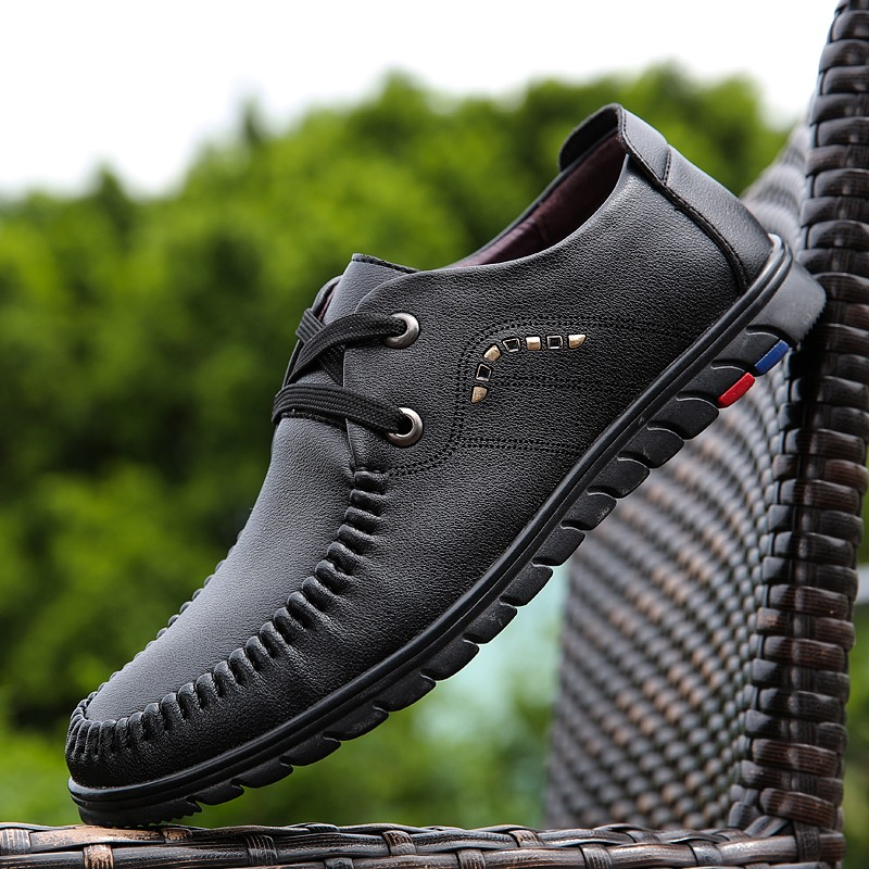 Mens Shoes Casual Leather Shoes Pu Leather Lightweight Breathable Oxford Classic Business Bureau Shoes Elegant Zapatos De Hombre image