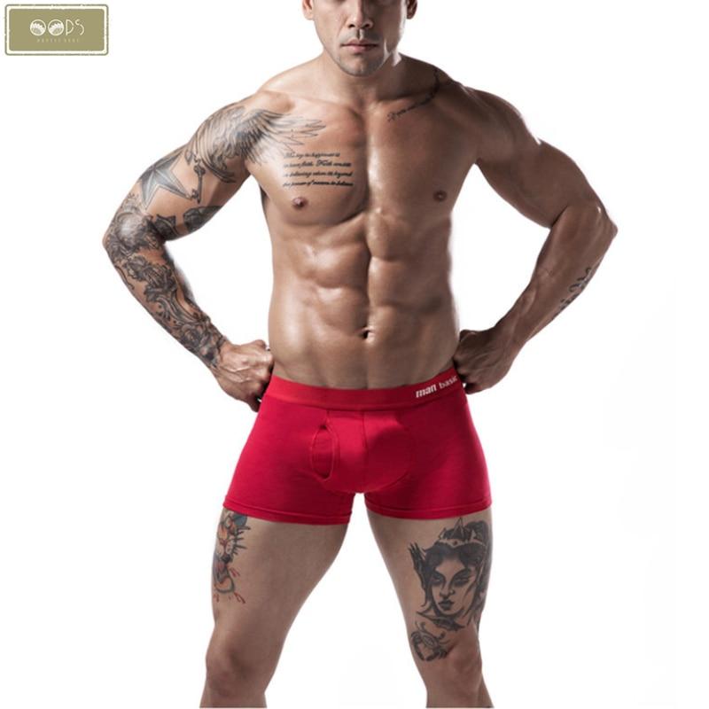 Boxer Mens Underwear Men Cotton Underpants Male Pure Panties Shorts Pantied Boxer Shorts Open Hole Boxers Man Male Pants