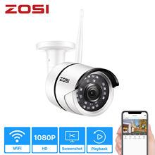 Zosi 1080 p беспроводная камера видеонаблюдения onvif 2mp Мобильная