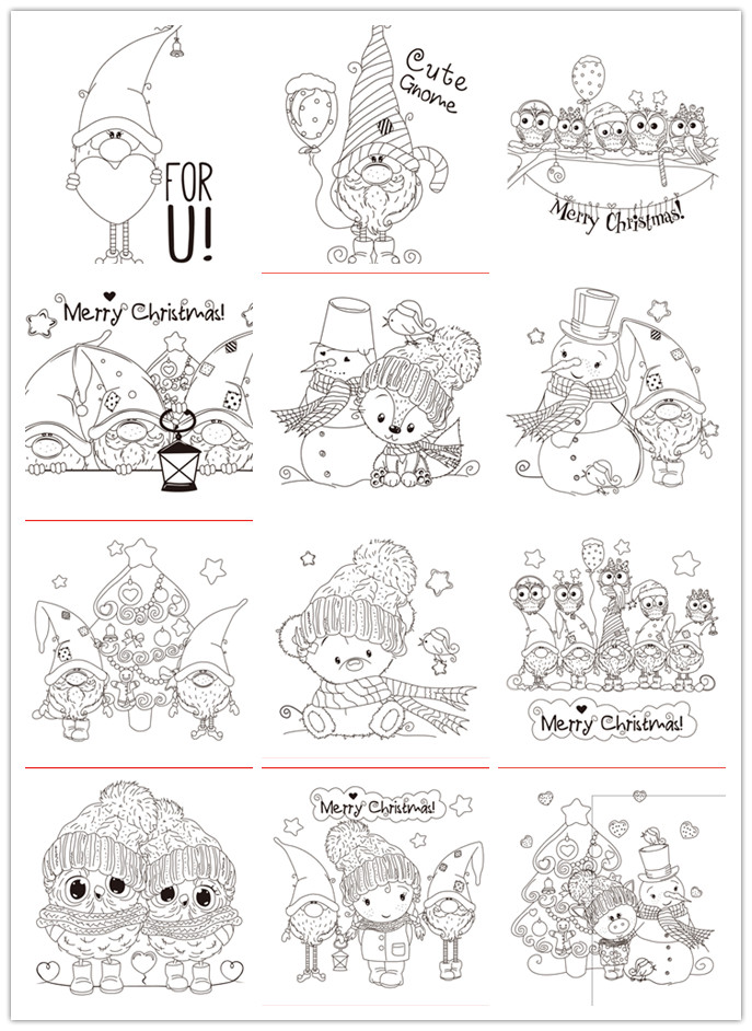 10x8 Christmas Series   Transparent Clear Silicone Stamp/Seal For DIY Scrapbooking/photo Album Decorative Card Making